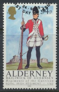 Alderney  SG A27  SC# 27 Military Uniforms Used First Day Cancel - as per scan