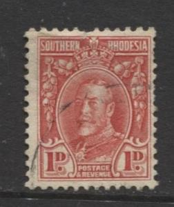Southern Rhodesia- Scott 17 - KGV - Definitives  -1931 - FU - Single 1d Stamp