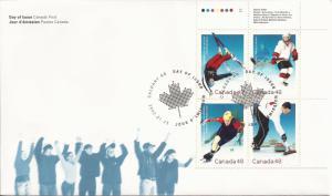 2002 Canada FDC Sc 1939a - 2002 Olympic Winter Games - PB UR