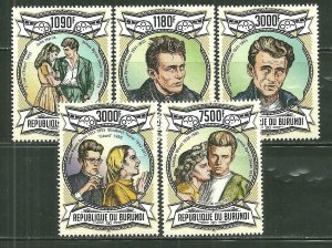 Burundi MNH 1308A-D,1333 Actor James Dean SCV 10.10