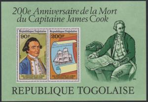 Togo #C374a YTBF125 MNH S/S CV$5 James Cook Death Bicentenary