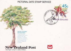 New Zealand 45c Pictorial Date Stamp Card 1993 Stampex Christchurch Unused VGC