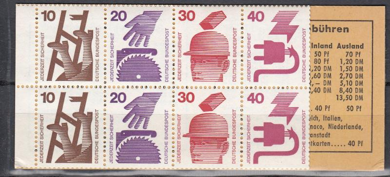 Germany - 1972 Booklet pane Mi# 23 - MNH - (235)