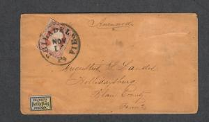 US Sc#11a+15L4 Bloods Penny Post Local Cover, Cv. $375