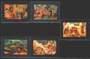 Soviet Union. 1982. 5244-48. Artistic craft Mstera, fairy tales. MNH.