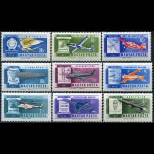 HUNGARY 1962 - Scott# C210-8 Planes Set of 9 NH