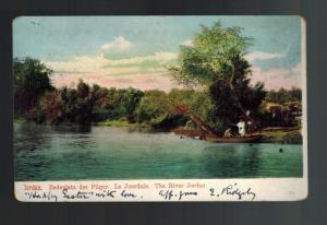 1906 Jerusalem Palestine Austria Post office Postcard Cover to USA River Jordan