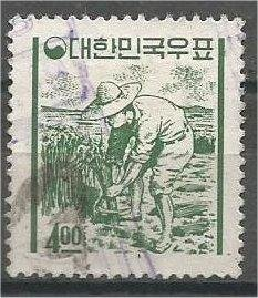 KOREA, 1962 used 4w, Rice Farmer Scott 366