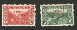 BOSNIA - AUSTRIA - USED/MH SET - OVERPRINT - 1914. (48)