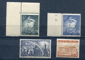Poland 1937-8 Mi 318-0 and 326 MNH 4742
