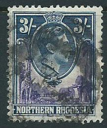 Northern Rhodesia  SG 42  Used  heavy parcel cancel