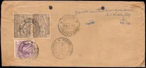 1956 BURMA REGISTERED RANGOON TO SOUTH INDIA