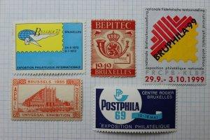 Belgium Philatelic Exhibition stmap Show lot label ad BEPITEC BELGICA POSTPHILA