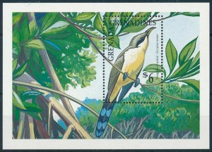 [108810] Grenada Grenadines 1990 Bird vogel oiseau Mangrove Cuckoo Sheet MNH