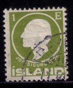 ICELAND Sc #86 USED EMBOSSED F-VF