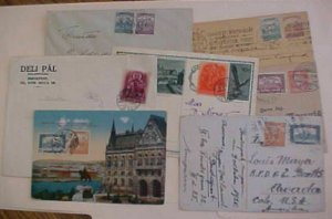 HUNGARY  7 DIFF. COVERS/CARDS 1920-1938 INCLUDES 3 TO USA