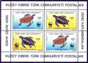 Turkish Cyprus. 1992. bl11. Sea turtles. MNH.