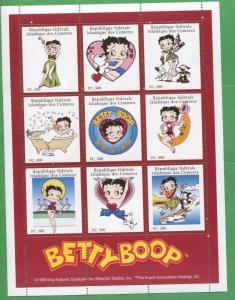 Betty Boop Cartoon Commemorative Souvenir Stamp Sheet Comoro Islands E14