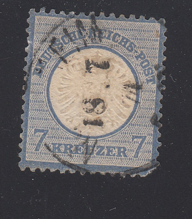 J28660, 1872 germany used #24 eagle large shield $60.00 scv avg condition