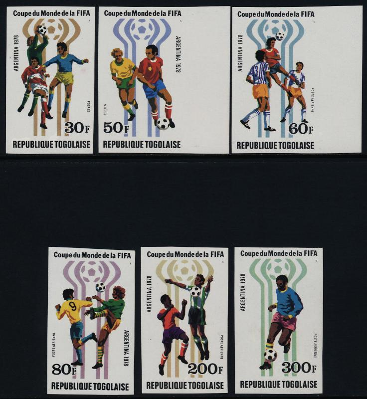 Togo 1001-2, C346-8 imperf MNH World Cup Soccer, Sports