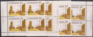 Canada USC723A&Aiii 1978 50c Prairie Scene MS PL 2 VF-NH