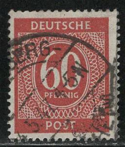 Germany AM Post Scott # 552, used, variation color