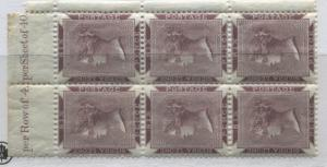 Sierra Leone 1890 6d violet brown block of 6 mint o.g.