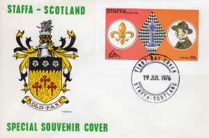 Staffa 1976 (Scotland) CHESS/SCOUTS S/S  IMPERFORATED  FDC