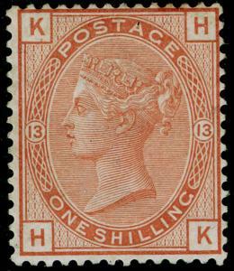 SG151, 1s orange-brown plate 13, M MINT. Cat £4750. HK