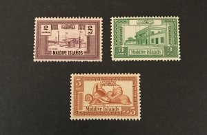 Maldive Islands 1960 #58-60, MNH SCV $4.00