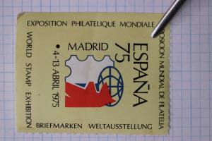 Espana 1975 World Philatelic expo Exhibition Madrid Spain show Poster ad seal