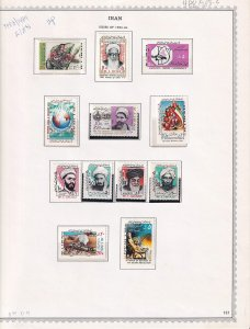 IRAN 4 ALBUM PAGES COLLECTION LOT 1983-1985 MOST OG NH VF BEAUTIFUL GUM