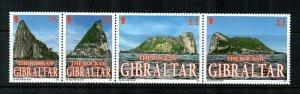 Gibraltar 2002  # Roc of Gibraltar Strip MNH # 917