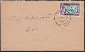 GILBERT & ELLICE IS 1965 local commercial cover Tarawa to Betio............68825