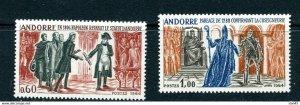 Andorra France Administration 1964 Bishop Urgel Napoleon set ScNo 159-60 MNH 110