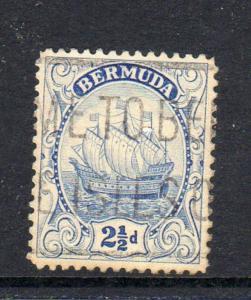 BERMUDA #87  1932  2 1/2p CARAVEL    F-VF USED  b