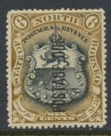 North Borneo SG D18 MH 6c Opt Postage Due perf 14½ x 15 see details & scans