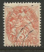 France (Offices in Crete)  #3  used  (1902)  c.v. $2.75