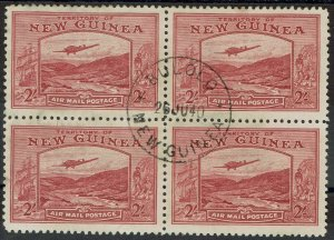 NEW GUINEA 1939 BULOLO AIRMAIL 2/- BLOCK USED
