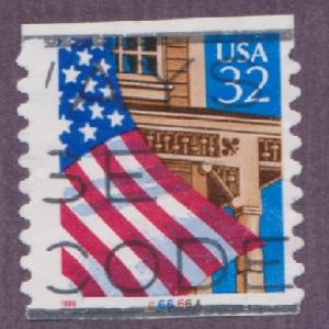 US #2915A Flag over Porch Used PNC Single plate #66666A