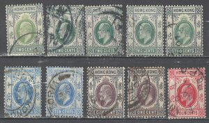 COLLECTION LOT # 2536 HONG KONG 10 STAMPS 1903+ CLEARANCE CV+$12