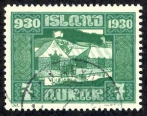 Iceland Sc# 154 Used 1930 7a Definitives