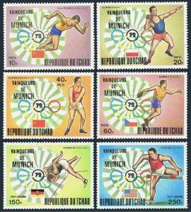 Chad 281-284,C148-C149,MNH.Michel 620-625. Olympics Munich-1972,Winners,set 1.
