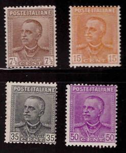 Italy Scott 197-200 MH* perf 14 stamp set CV $34.25