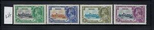 MALTA SCOTT #184-187 1935 GEORGE V SILVER JUBILEE- MINT LIGHT HINGED
