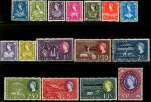 KUT Sc#120-135 SG#183-198 1960 QEII Definitives Complete OG Mint Hinged