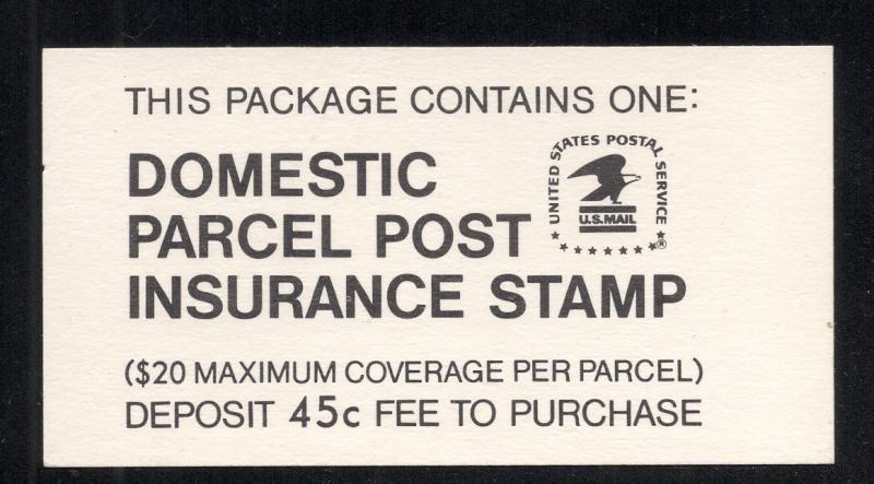 US#QI5 - Postal Insurance Booklet - Mint - Complete