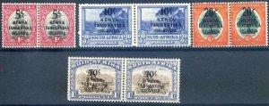 Kenya, Uganda and Tanganyika SG151/154 Mounted Mint Pairs