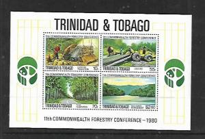 TRINIDAD & TOBAGO, 336A, MNH, SS, FORESTRY CONFERENCE