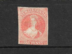NEW ZEALAND 1862-64  1d ORANGE  FFQ  MNG PELURE CERTIFICATE CP A1G  SG 81 CHALON